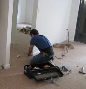 workman remodeling apartment unit